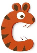 Scratch Letter C Tijger Oranje 5.5 Cm