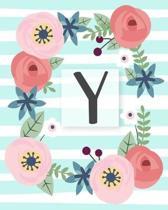 Y: Diario Agenda con copertina Monogramma. Date da Ricordare, Obiettivi, Priorita' e Spazio Appunti per i tuoi Pensieri!