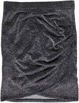 Only gevoerd stretch rokje black silver glitter - Maat S