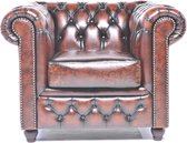 The Original Chesterfield - Brighton - Fauteuil - Zetel Salon - Met arm - Antiek Bruin