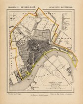 Historische kaart, plattegrond van gemeente Rotterdam in Zuid Holland uit 1867 door Kuyper van Kaartcadeau.com