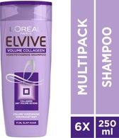 L'Oréal Paris Elvive Volume Collageen Shampoo - 6x250 ml - Voordeelverpakking