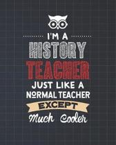 I'm A History Teacher Just Like A Normal Teacher Except Much Cooler: Dot Grid Notebook and Appreciation Gift for Teachers