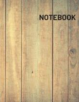 Notebook: 8.5 x 11 inches 105 Pages Wood Journal