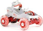 Skorpion - Roller Skates - Skorpies - brede rolschaatsen voor kinderen - schoenmaat 31 t/m 35 - Rood - max belastbaar 45 kg - 5/9 jaar