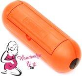 Waterproof stekkerdoos / box Oranje . Spatwater dicht. Voor buiten & binnen