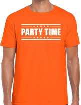 Party time t-shirt oranje heren L