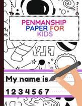 Penmanship Paper for Kids
