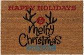 Kokosmat met tekst happy holidays