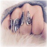 Boho ring Angel - 925 zilver - maat 17.00 mm / maat 53