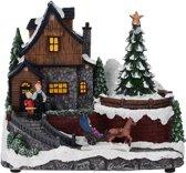 Kerstdorp met Blokhut - met verlichting en beweging
