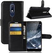 Hoesje voor Nokia 5.1 (2018), 3-in-1 bookcase, zwart
