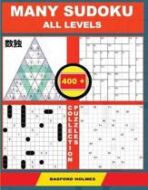 Many Sudoku All Levels. 400 Collection Puzzles.