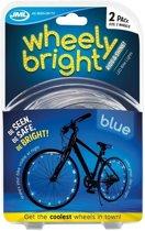 2x LED lichtslangen blauw voor op de fiets - Fietsverlichting - Spaakverlichting - Veilig fietsen