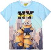 Minions-T-shirt-met-korte-mouw-lichtblauw-maat-128