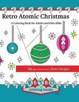 Retro Atomic Christmas Coloring Book