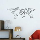 Muursticker Wereldkaart - Abstract design - 59x23 cm