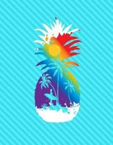 Pineapple Surf Beach Notebook - 4x4 Graph Paper
