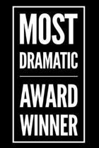 Most Dramatic Award Winner