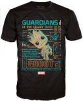 GARDIANS OF THE GALAXY - T-Shirt POP - Groot Line-Up (XL)