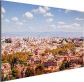 Uitzicht op Rome Aluminium 180x120 cm - Foto print op Aluminium (metaal wanddecoratie) XXL / Groot formaat!