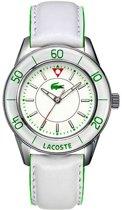 Lacoste horlogeband 2000558 / 2000559 Leder Wit 20mm + wit stiksel