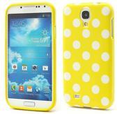 Dots silicone hoesje Samsung Galaxy S4 geel