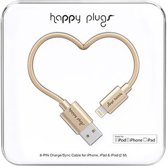 Happy Plugs Lightning laad/synchro kabel 2m champagne