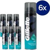 Gillette Gevoelige Huid - Voordeelverpakking 6x200ml - Scheergel
