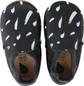 Bobux babyslofjes black white paint trims loafer - maat 28