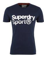 Superdry Shirt - Maat L  - Mannen - blauw/wit