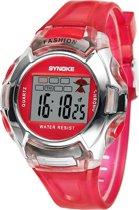 Synoke horloge 38 mm rood I-deLuxe verpakking