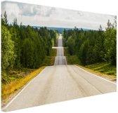 FotoCadeau.nl - Seesaw weg in Finland Canvas 30x20 cm - Foto print op Canvas schilderij (Wanddecoratie)