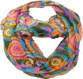 sjaal sjaal lus multifunctionele sjaal 90 x 90 cm; gemaakt van 100% viscose. Blauw 90 x 90 cm
