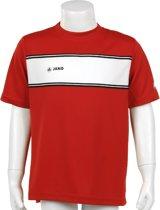 JAKO Player Junior - Voetbalshirt - Kinderen - Maat 116 - Rood/Wit