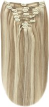 Remy Human Hair extensions Double Weft straight 15 - blond 18/613#