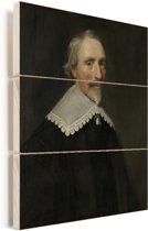 Portret van Jacob Cats - Schilderij van Michiel Jansz van Mierevelt Vurenhout met planken 120x160 cm - Foto print op Hout (Wanddecoratie) XXL / Groot formaat!