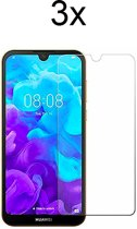 Huawei Y5 (2019) Screenprotector Glas - Tempered Glass Screen Protector - 3x - LuxeRoyal