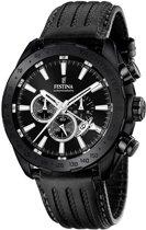Festina F16901/1 Prestige Chronograaf - Horloge- Staal - Zwart - 44.5 mm