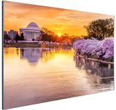 Jefferson Memorial Washington DC Aluminium 120x80 cm - Foto print op Aluminium (metaal wanddecoratie)