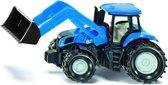 Siku New Holland Tractor met Frontlader - Blauw