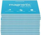 Magnetic Notes, set van 10 notitieboekjes maat M (100x74mm)x100 sheets Blauw