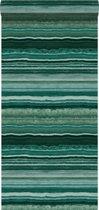Origin behang gelaagd marmer steen smaragd groen