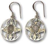 Zilveren edelsteen oorbellen Maansteen