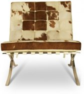 Barcelona Chair Xclusive Cowhide Bruin/Wit