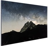 Melkweg over bergen Nepal Aluminium 30x20 cm - Foto print op Aluminium (metaal wanddecoratie)