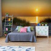 Fotobehang Beach Sunset   VEA - 206cm x 275cm   130gr/m2 Vlies