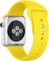 Apple Watch Siliconen Bandje Geschikt voor Apple Watch 1 / 2 / 3 / 4 / 5 - 38MM / 40MM  Geel / Yellow  Premium kwaliteit   TrendParts