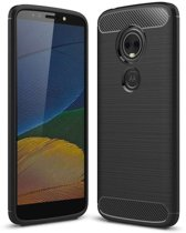 Motorola Moto E5 hoesje - Rugged TPU Case - zwart