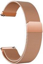 Milanees Bandje Roségoud voor Samsung Galaxy Watch Active - Galaxy Watch Active Bandje - Italiaans Design Horloge Band met Magneetsluiting iCall